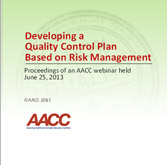 Developing a Quality Control Plan Based on Risk Management