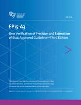 User Verification of Precision and Estimation of Bias; Approved Guideline - 3rd Edition (EP15-A2)
