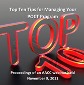 Top Ten Tips for Managing Your POCT Program