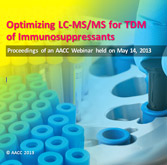 Optimizing LC-MS/MS for the TDM of Immunosuppressants - CD