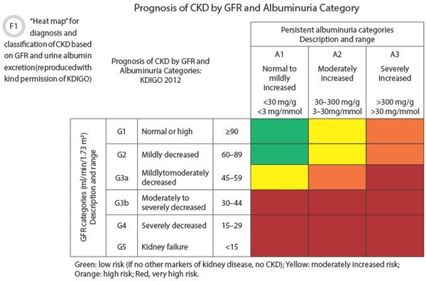 Prognosis of CKD by GRF and Albuminuria Category