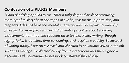 Confession of a PLUGS member
