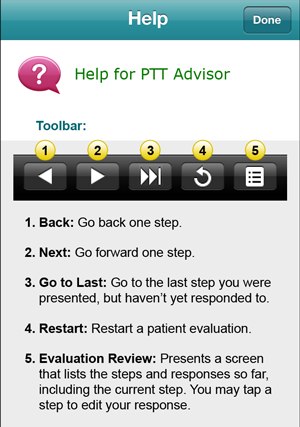 Help for PTT Advisor