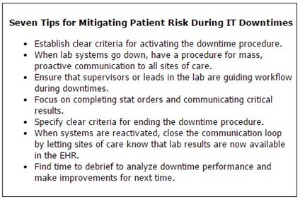 Seven Tips for Mitigating Patient Risk During IT Downtimes