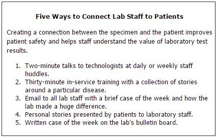 Five Ways to Connect Lab Staff to Patients