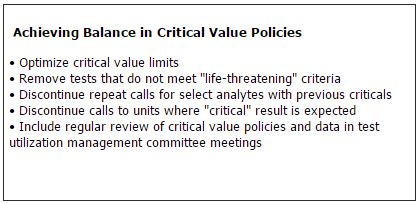 Achieving Balance in Critical Value Policies